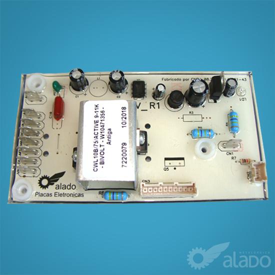 CONTROLE COMPAT. CWL10B/75/ACTIVE 9-11K  - BIVOLT - W10471356 - Antiga Resinada