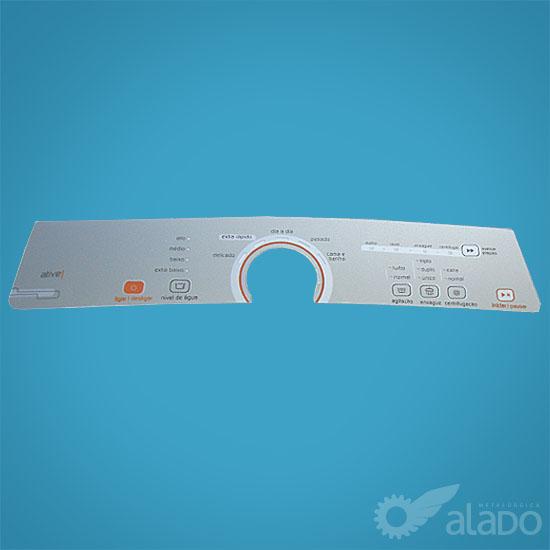 PAINEL DEC. COMPAT. BWG11 A/B PRATA INOX CLARO - W10463584